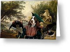 English Springer Spaniel Art Canvas Print Greeting Card