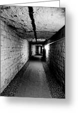 Image Of The Catacomb Tunnels In Paris France Greeting Card