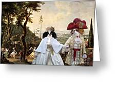 Japanese Chin Art Canvas Print  Greeting Card