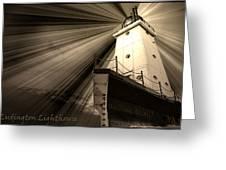 Ludington  Light House Michigan Greeting Card