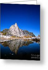 Prusik Peak Reflects In Gnome Tarn Greeting Card