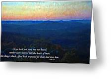 1 Corinthians 2 9 Greeting Card