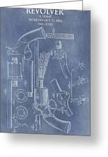 1856 Revolver Patent Greeting Card