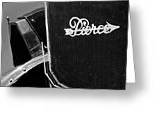 1916 Pierce-arrow 48 Phaeton Grille Emblem Greeting Card