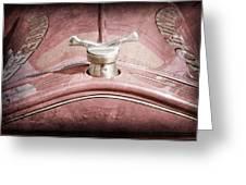 1919 Ford Volunteer Fire Truck Hood Ornament Greeting Card