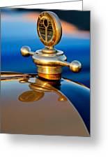 1922 Studebaker Touring Hood Ornament 3 Greeting Card