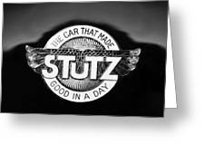 1925 Stutz Series 695h Speedway Six Torpedo Tail Speedster Emblem Greeting Card