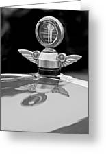 1927 Chandler 4-door Hood Ornament Greeting Card