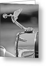 1927 Isotta-fraschini Tipo 8a Boat-tail Tourer Hood Ornament Greeting Card