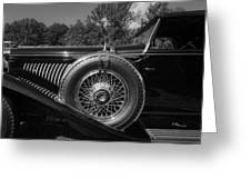 1929 Duesenberg Model J Covertible Coupe By Murphy Greeting Card