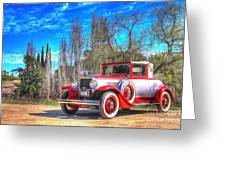 1929 Graham-paige Roadster Greeting Card