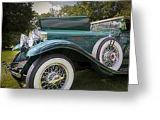 1929 Isotta Fraschini Tipo 8a Convertible Sedan Greeting Card