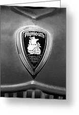 1930 Chrysler Plymouth Emblem Greeting Card