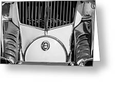 1930 Cord L-29 Speedster Grille Emblem Greeting Card