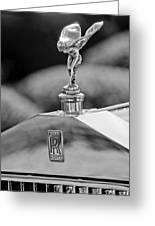 1930 Rolls-royce Phantom I Transformal Phaeton Hood Ornament Greeting Card