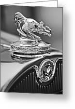 1931 American Austin Roadster Hood Ornament Greeting Card