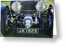 1931 Bentley 4.5 Liter Supercharged Le Mans Grille Greeting Card