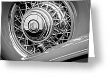 1931 Chrysler Cg Imperial Dual Cowl Phaeton Spare Tire Emblem Greeting Card