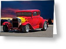 1931 Ford 'model A' Coupe Greeting Card