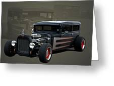 1931 Ford Sedan Hot Rod Greeting Card