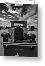 1931 Model T Ford Monochrome Greeting Card