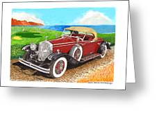 Rolls Royce Henley Roadster Greeting Card