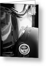 1932 Auburn Twelve Custom Phaeton Taillight Emblem Greeting Card