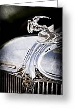 1933 Chrysler Imperial Hood Ornament - Emblem Greeting Card