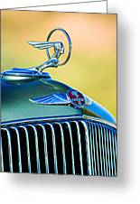 1933 Pontiac Hood Ornament - Emblem Greeting Card