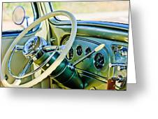 1933 Pontiac Steering Wheel -0463c Greeting Card