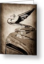 1934 Aftermarket Chevrolet Hood Ornament Greeting Card