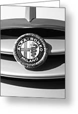 1934 Alfa Romeo 8c Zagato Emblem Greeting Card