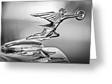 1934 Packard 8 1101 Sedan Hood Ornament Greeting Card