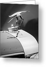 1935 Hispano-suiza J12 Vanvooren Cabriolet Hood Ornament -2425c Greeting Card