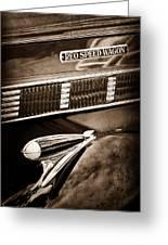 1935 Reo Speed Wagon 6ap Pickup Emblem Greeting Card