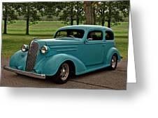 1936 Chevrolet Sedan Hot Rod Greeting Card