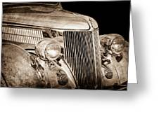 1936 Ford - Stainless Steel Body Greeting Card