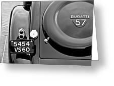 1937 Bugatti Type 57c Ventoux Greeting Card
