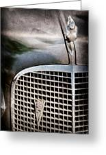 1937 Cadillac Hood Ornament And Grille Emblem Greeting Card
