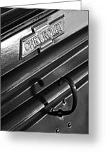 1937 Chevrolet Custom Pickup Emblem Greeting Card by Jill Reger