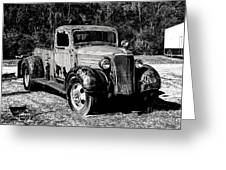 1937 Chevy Wrecker Greeting Card