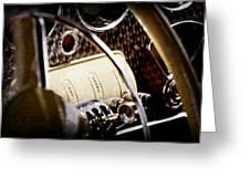 1937 Cord 812 Phaeton Controls Greeting Card