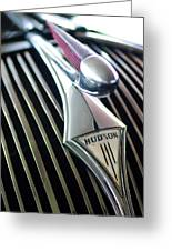 1937 Hudson Terraplane Sedan Hood Ornament Greeting Card