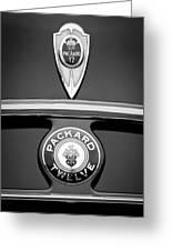 1937 Packard 1508 Twelve Convertible Sedan Emblems Greeting Card