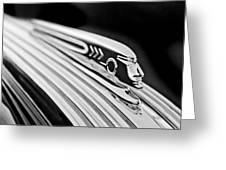1937 Pontiac Chief Custom Hood Ornament Greeting Card