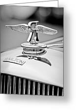 1937 Railton Rippon Brothers Special Limousine Hood Ornament Greeting Card