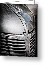 1938 Chevrolet Hood Ornament - Emblem Greeting Card