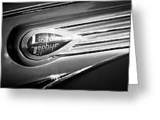 1938 Lincoln Zephyr Emblem Greeting Card