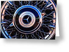 1939 Mercedes-benz 540k Special Roadster Wheel Rim Emblem Greeting Card