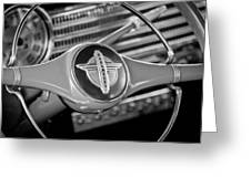 1941 Chevrolet Steering Wheel Emblem Greeting Card